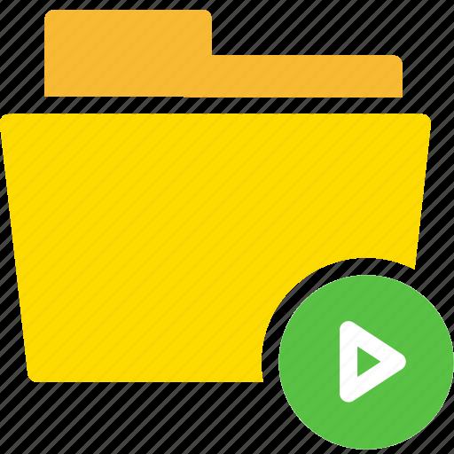audio, data, document, file, folder, play icon