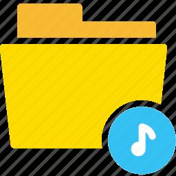audio, data, document, file, folder, music, sound icon