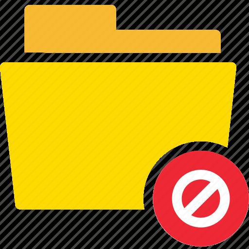 data, delete, denial, document, file, folder, reject icon