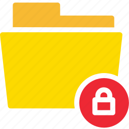 data, document, file, folder, lock, secret icon