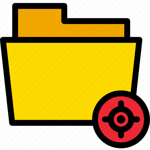 data, document, file, folder, target icon