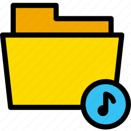 data, document, file, folder, music, sound, voice icon