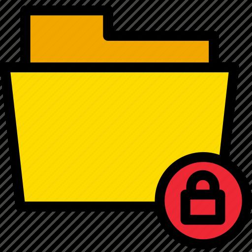 data, document, file, folder, lock, secret, security icon