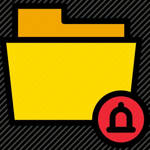 alert, bell, data, document, file, folder, notifications icon