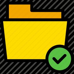 check, correct, data, document, file, folder icon