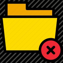 close, data, delete, document, exit, file, folder icon