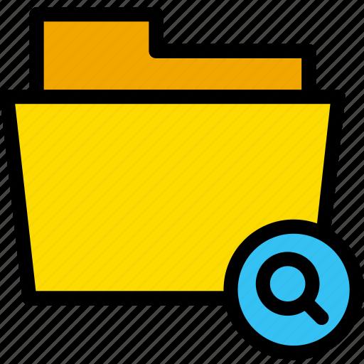 data, document, file, find, folder, search icon