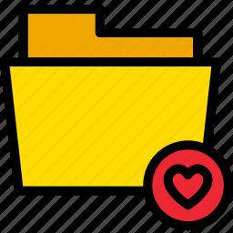 data, document, favorite, file, folder, heart icon