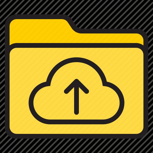 cloud, doc, document, file, folder, up icon