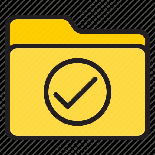 correct, doc, document, file, folder icon