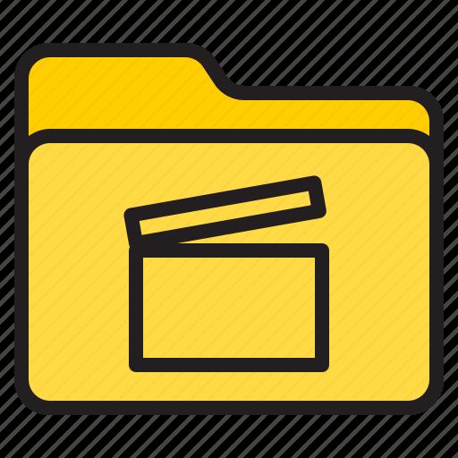 doc, document, file, folder, movie icon