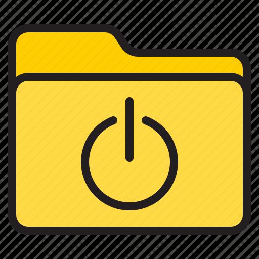 doc, document, file, folder, power icon