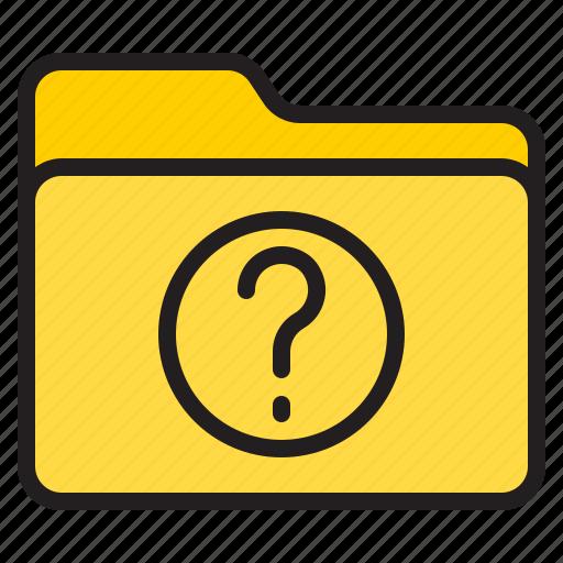 doc, document, file, folder, question icon