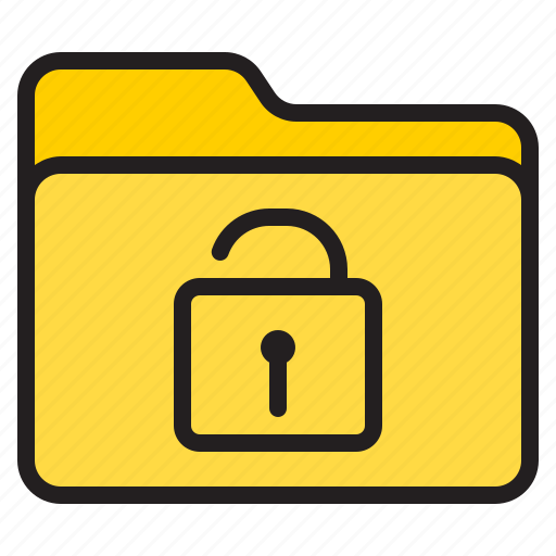 doc, document, file, folder, unlock icon