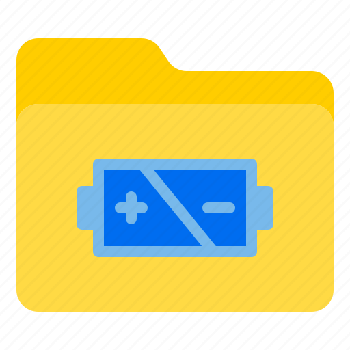 battery, doc, document, file, folder icon