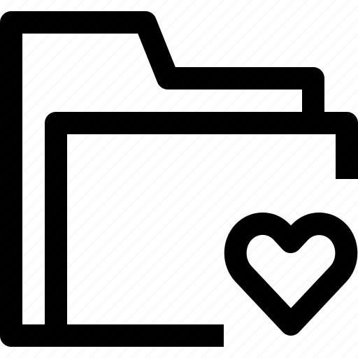 document, file, folder, love, object, office icon