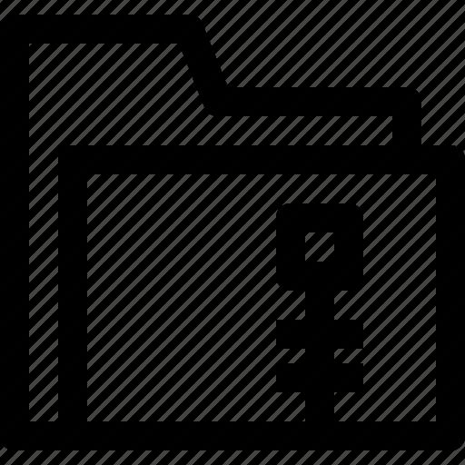 document, file, folder, object, office, zip icon
