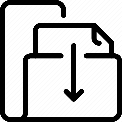 arrow, business, document, file, folder icon