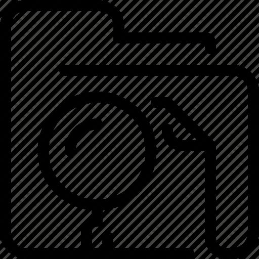 document, education, file, folder, search, seo icon