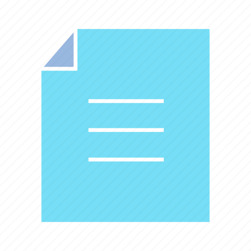 document, memo, note, paper icon