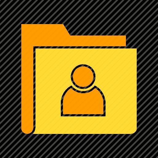 file, foldet, personal data, profile icon