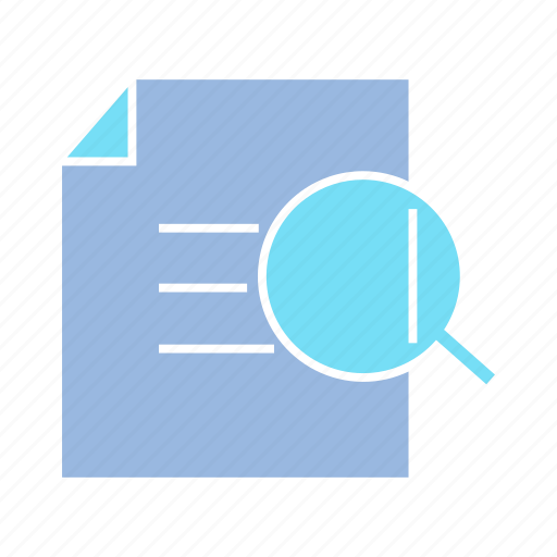 check, document, magnifier, paper, scan, search, verify icon