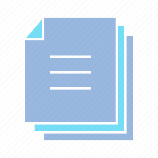 document, file, note, note paper, paper, stack icon