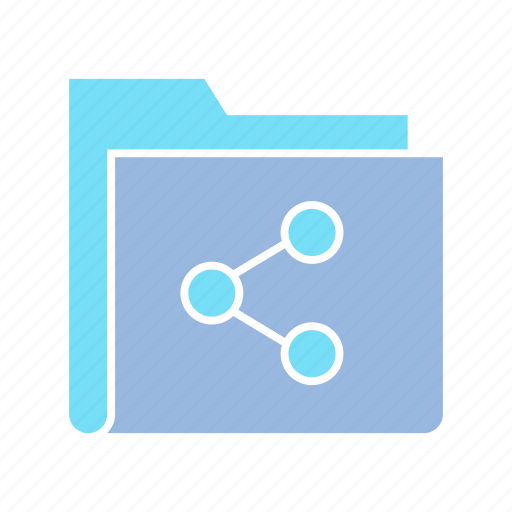 data, file, file sharing, folder, link, share, storage icon