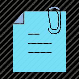 clip, document, memo, note, note paper, paper icon