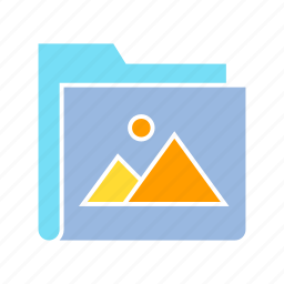 archive, data, file, folder, image, info, storage icon