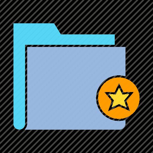 bookmark, data, favorite, file, folder, star, storage icon