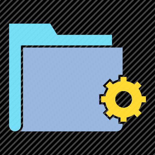 cog, data, file, folder, gear, setting, storage icon