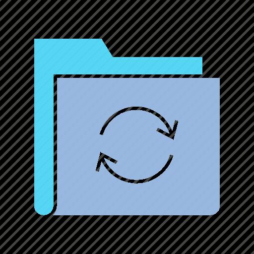 archive file, data, file, folder, info, rotate, storage icon