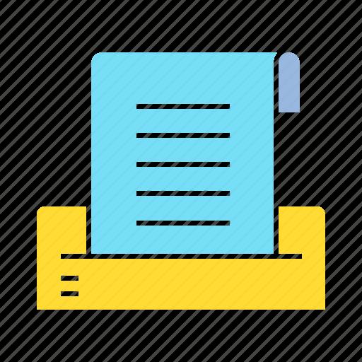 document, file, paper, printer icon