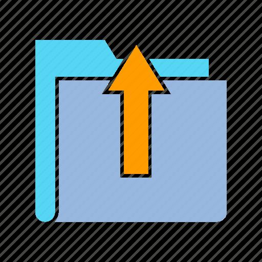archive, data, file, folder, info, storage, upload icon
