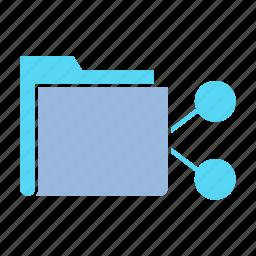 data, file, file sharing, folder, info, link, share icon