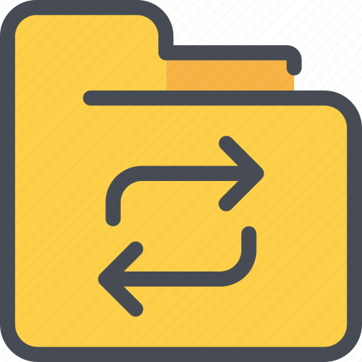 archive, arrow, document, exchange, file, folder icon