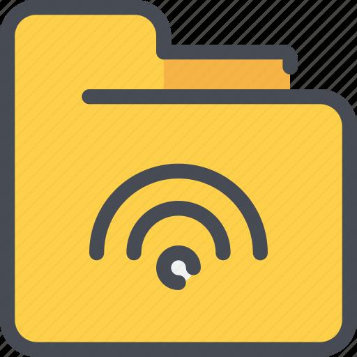 archive, document, file, folder, network icon