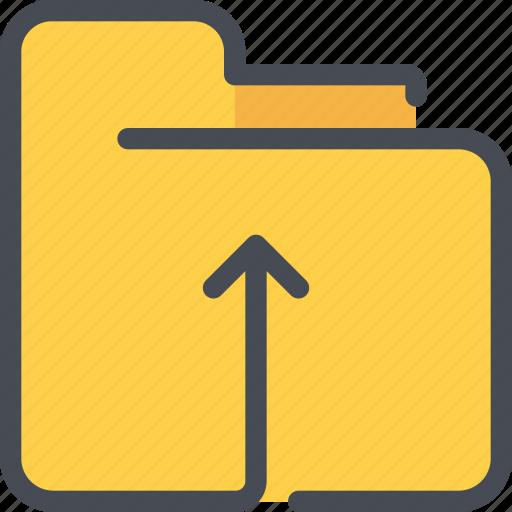 archive, arrow, document, file, folder icon
