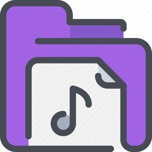 archive, document, file, folder, media, music, song icon
