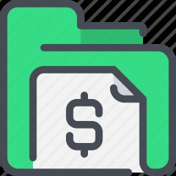 archive, banking, document, file, finance, folder, money icon