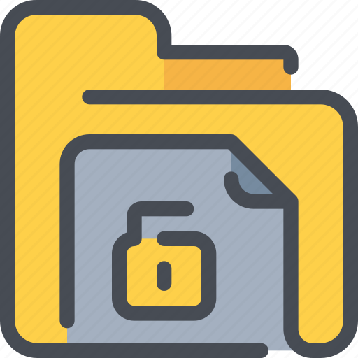 archive, document, file, folder, padlock, secure, security icon