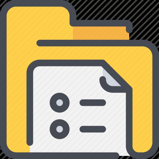 archive, document, file, folder, list icon