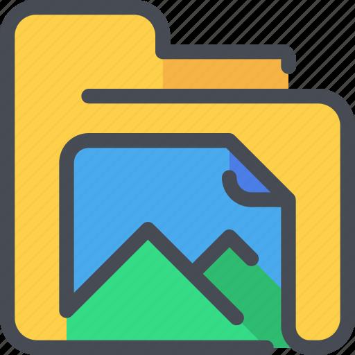archive, document, file, folder, photo icon