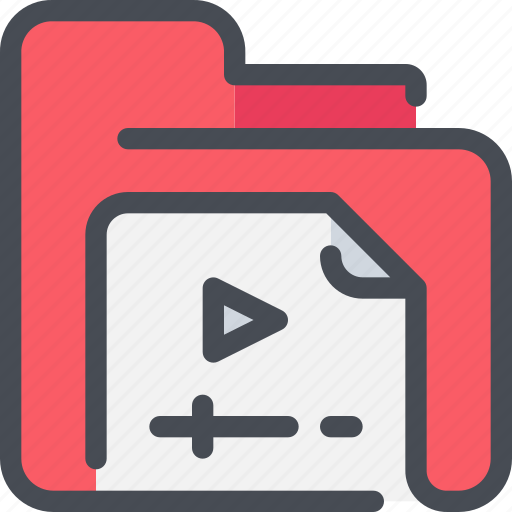 archive, document, file, folder, movie, video icon