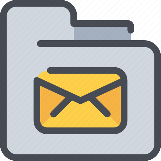 archive, document, email, file, folder, letter, mail icon
