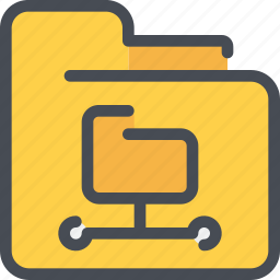 archive, connect, document, file, folder, network icon