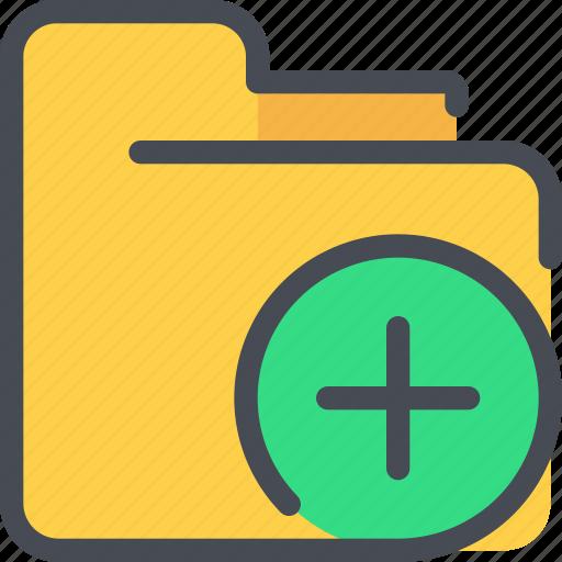 add, archive, document, file, folder icon