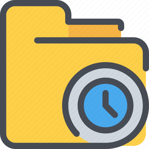 archive, document, file, folder, time, timer icon