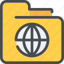 archive, document, file, folder, global icon
